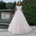 Sweet Pink Ball Gown with Lace Appliques - Mr. & Mrs. Tomorrow