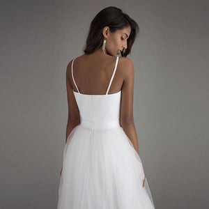 Vintage Spaghetti Strap Sweetheart Tulle A-Line Wedding Dress - Mr. & Mrs. Tomorrow