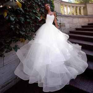 Dramatic Organza Train Ball Gown with Sweetheart Neckline - Mr. & Mrs. Tomorrow