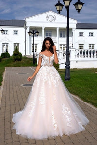 Glamorous Off Shoulder Floral Lace Ball Gown - Mr. & Mrs. Tomorrow