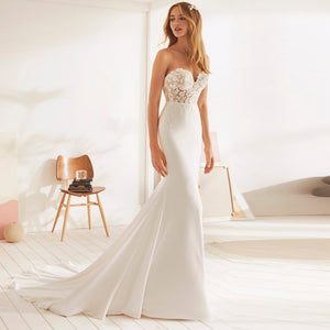 Romantic Lace Sweetheart Trumpet Wedding Dress - Mr. & Mrs. Tomorrow