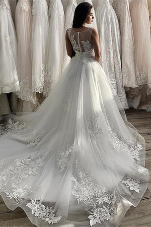 Gorgeous Flower Appliques Cap Sleeve Ball Gown - Mr. & Mrs. Tomorrow