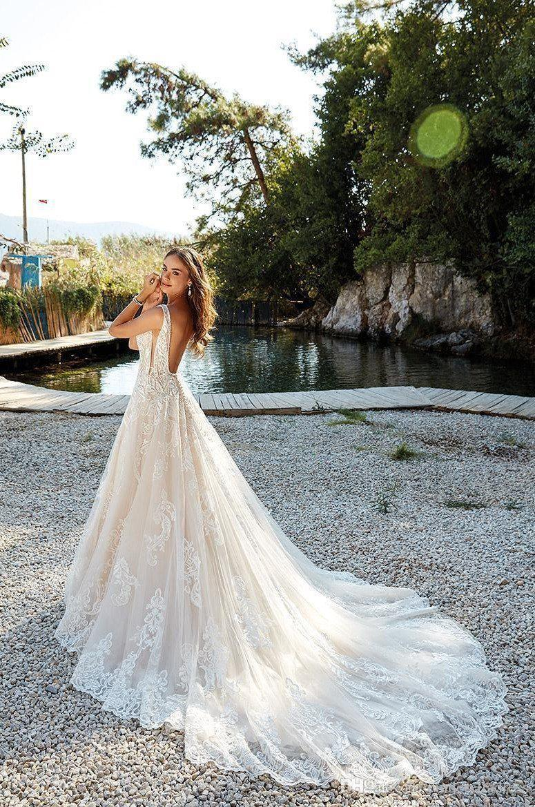 Sexy Summer Backless A-Line Wedding Dress - Mr. & Mrs. Tomorrow