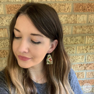 Fringe Danglers - Flora Antique