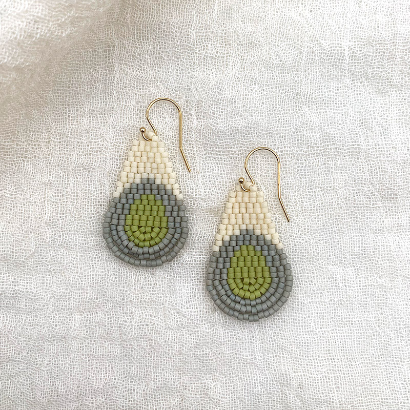 Teardrop Mini - Light Blue + Avocado