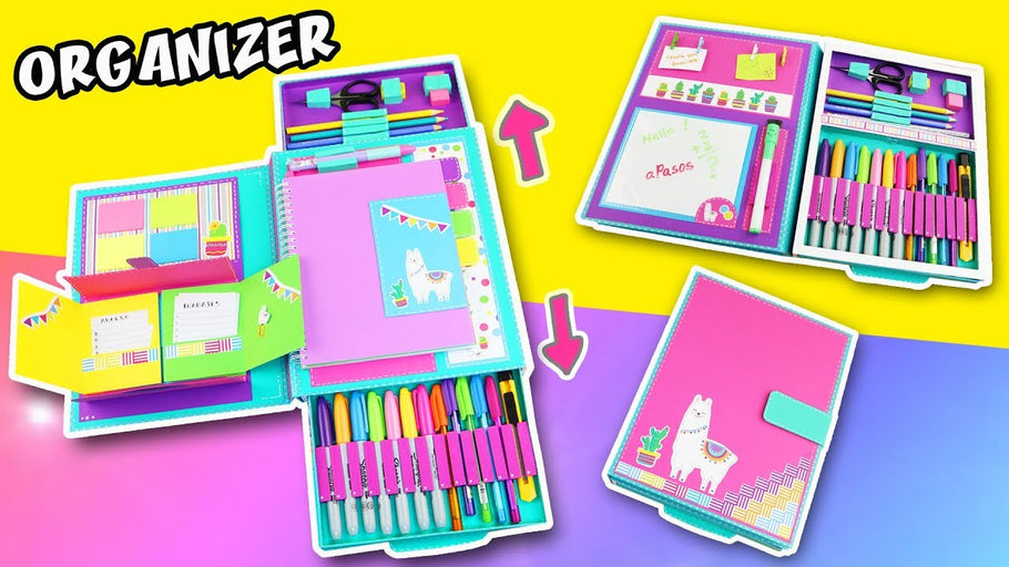 DIY FOLDER ORGANIZER for back to school ✅ Your notebook and school supplies at same place