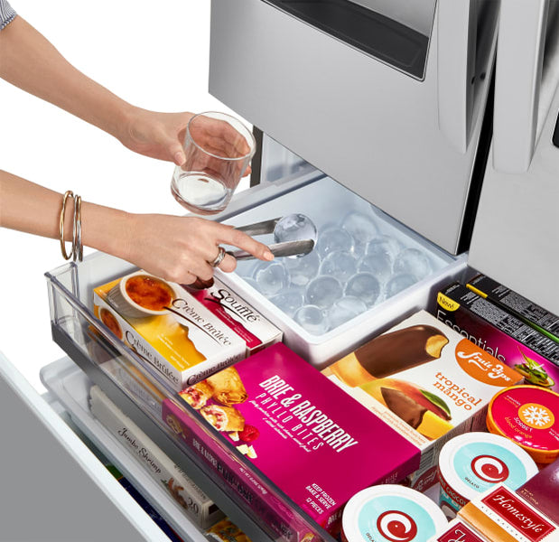 Round Slow-Melting 'Craft Ice' Now Available In 4 LG InstaView Door-in-Door Refrigerator Models