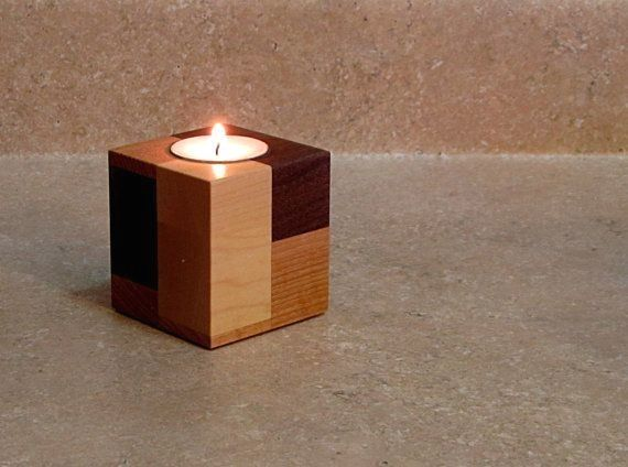 Special Concept Wooden Candlestick Holders