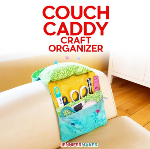 Sew a Couch Caddy Craft Organizer for Tools & Bits!