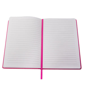 Save on paper craft 4 pack 8 5 x 5 5 leatherette lined writing journals wide ruled banded notebook with ribbon bookmark pink a5 size