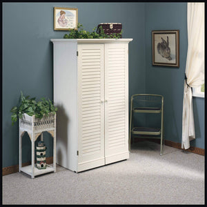 On amazon sauder 158097 harbor view craft armoire l 35 12 x w 21 81 x h 61 58 antiqued white finish