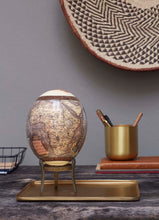 Load image into Gallery viewer, Cat brass ostrich egg stand