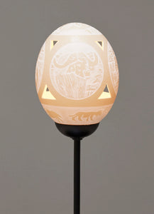 Big 5 Circle ostrich egg lamp