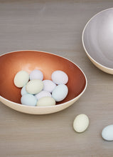 Load image into Gallery viewer, Glazed grey decorative eggshell bowl