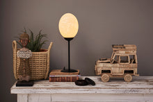 Load image into Gallery viewer, Mild Steel Ostrich egg lamp stand 230mm