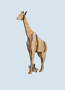 Freestanding giraffe in bamboo