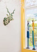 Load image into Gallery viewer, Kudu with luscious leaf print wall mount
