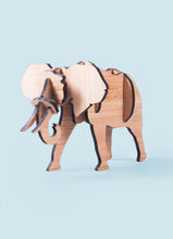 Load image into Gallery viewer, Freestanding elephant in bamboo