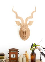 Load image into Gallery viewer, Kudu head in bamboo wall mount