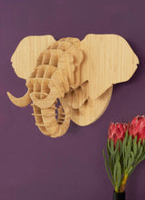 Load image into Gallery viewer, Elephant Head in Bamboo wall mount