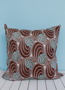 Choose from various turquoise & brown Java African wax print scatter cushions