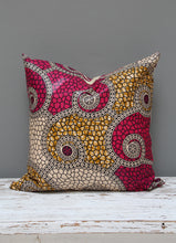 Load image into Gallery viewer, Shocking pink Java African wax print scatter cushion