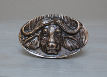 Load image into Gallery viewer, Brass African buffalo belt buckle