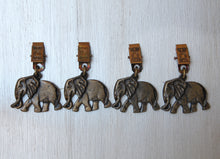 Load image into Gallery viewer, Elephant brass tablecloth weights
