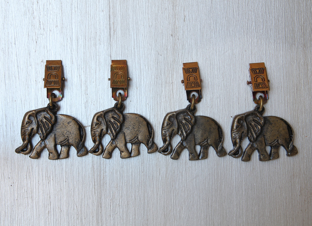 Elephant brass tablecloth weights