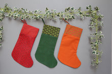 Load image into Gallery viewer, African Shwe-shwe Christmas stockings