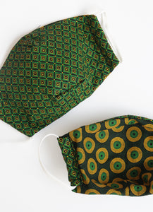 Green geometric front and back