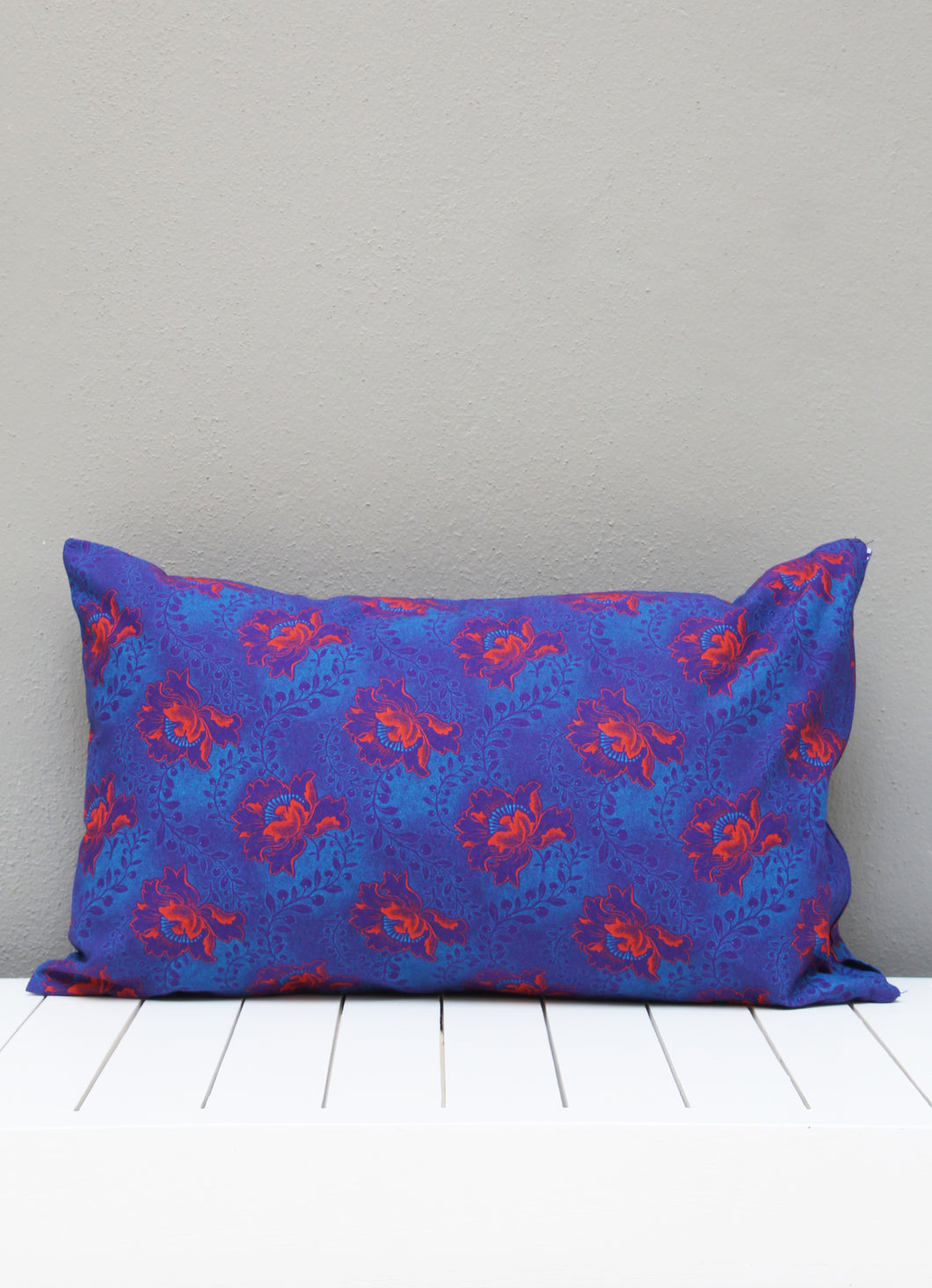 Navy blue African Shweshwe scatter cushion