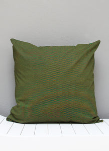 Green and yellow Shweshwe African scatter cushion