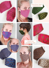 Load image into Gallery viewer, Elastic washable African shwe-shwe face mask