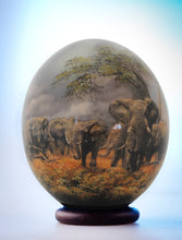 Load image into Gallery viewer, Elephant herd decoupage ostrich eggshell