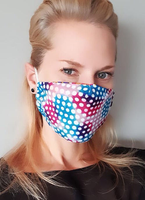 Elastic washable African java wax print face mask