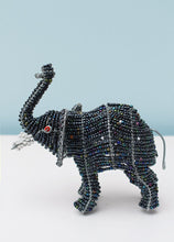 Load image into Gallery viewer, Beaded elephant with trunk up