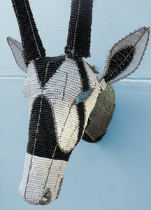 Beaded gemsbok wall mount