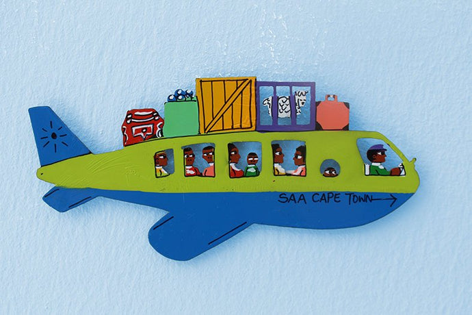 Plane metal cut out magnet