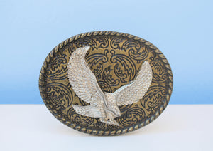 Brass African eagle belt buckle