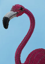 Load image into Gallery viewer, African wire and bead flamingo 90cm