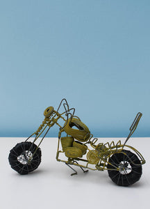 Wire and beaded motorbike