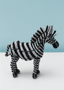 Striped beaded zebra