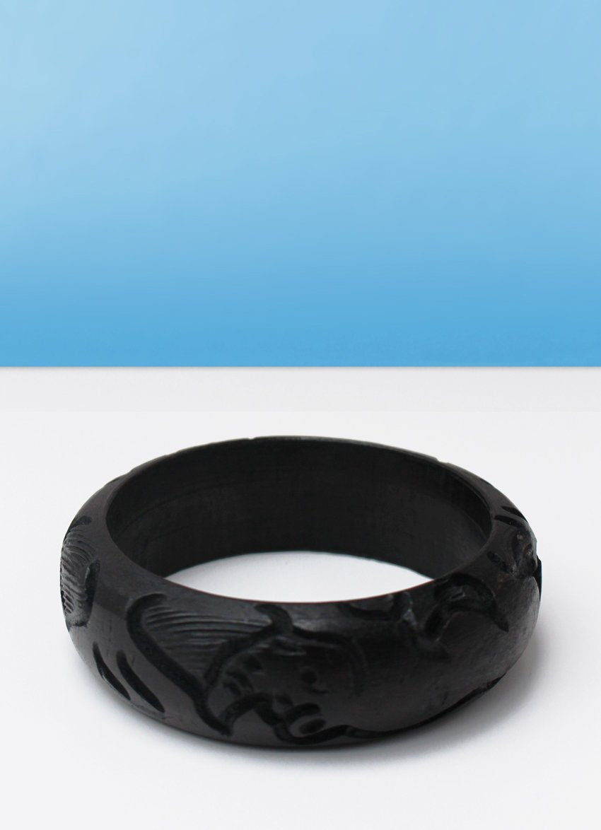 Ebony carved bangle