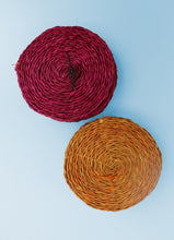 Load image into Gallery viewer, Set of 6 pink Swazi grass coasters