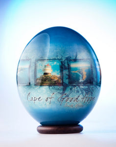 Decoupage Cape of Good Hope ostrich egg