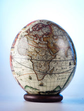 Load image into Gallery viewer, Decoupage world map ostrich egg