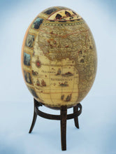 Load image into Gallery viewer, Decoupage African venda girl & Africa map ostrich egg