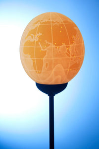 World map equator lamp