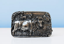 Load image into Gallery viewer, Antique nickel buffalo brass buckle